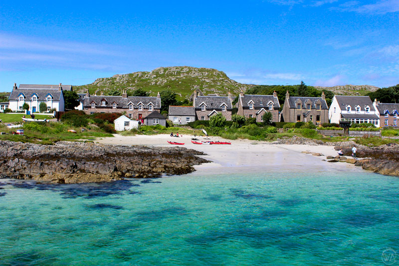 View to Isle of Mull, Isle of Iona, Isle of Staffa, discover Scottish islands