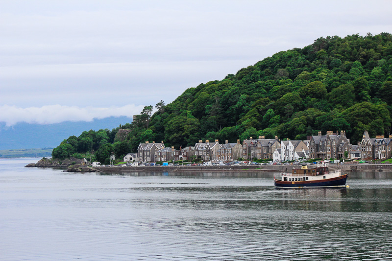 View to Oban from the ferry to Isle of Mull