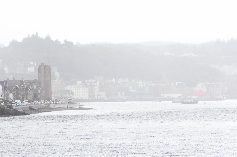 Misty weather coming back to Oban