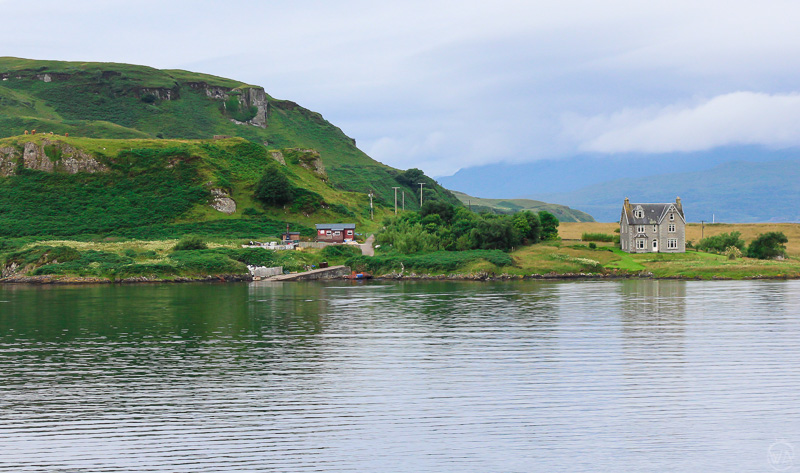 View from the ferry to Isle of Mull, Scotland