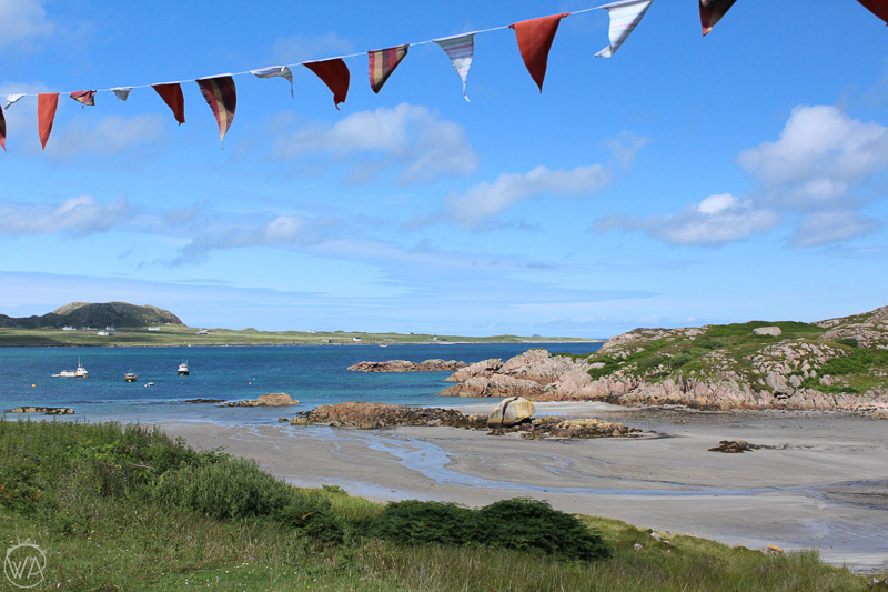 Fionnport beach, close to the ferry to Isle of Iona, on Isle of Mull