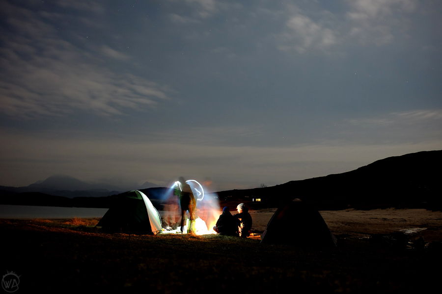 Wild camping on the beach
