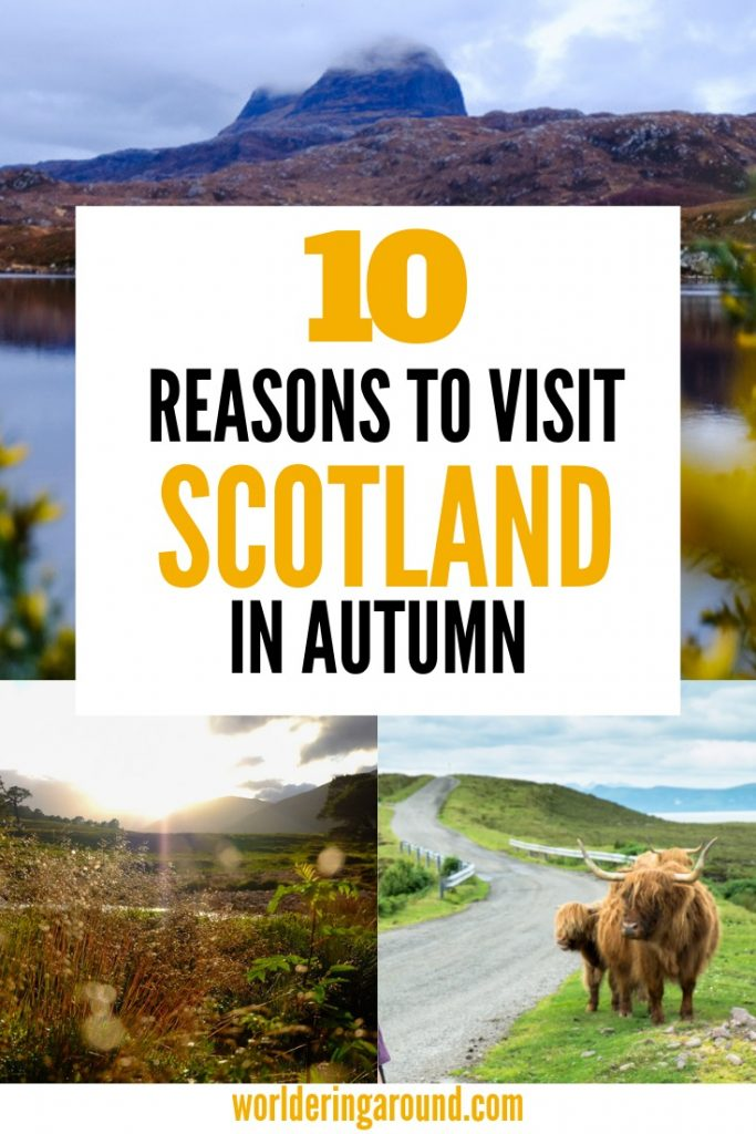 10 reasons to visit Scotland in Autumn. Travel Scotland off season and discover best things to do in Scotland in autumn. Get great Scotland photography opportunities, visit Scottish castles, Edinburgh, Inverness, Scotland Highlands, Glasgow, Isle of Skye #Scotland #Edinburgh #autumn #fall #travel