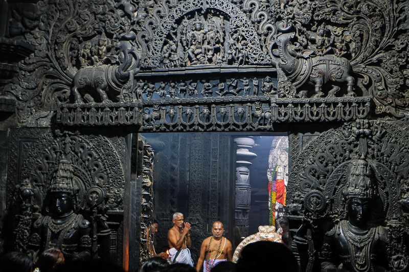 Sanctum in Belur temple, Karnataka, India