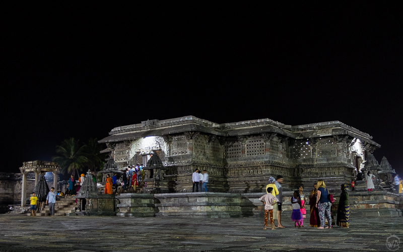 Belur temple at night, Karnataka, India