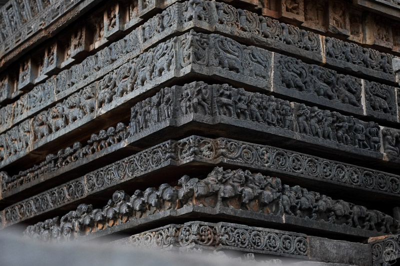 the details of the Halebidu temple, India
