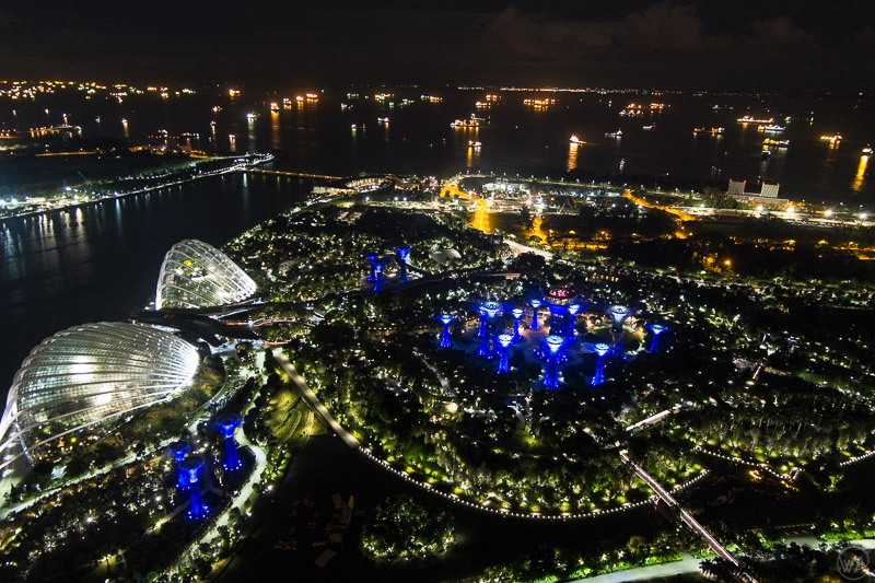 View to the Gardens by the Bay, Singapore in 24 hours - what to visit in Singapore in one day