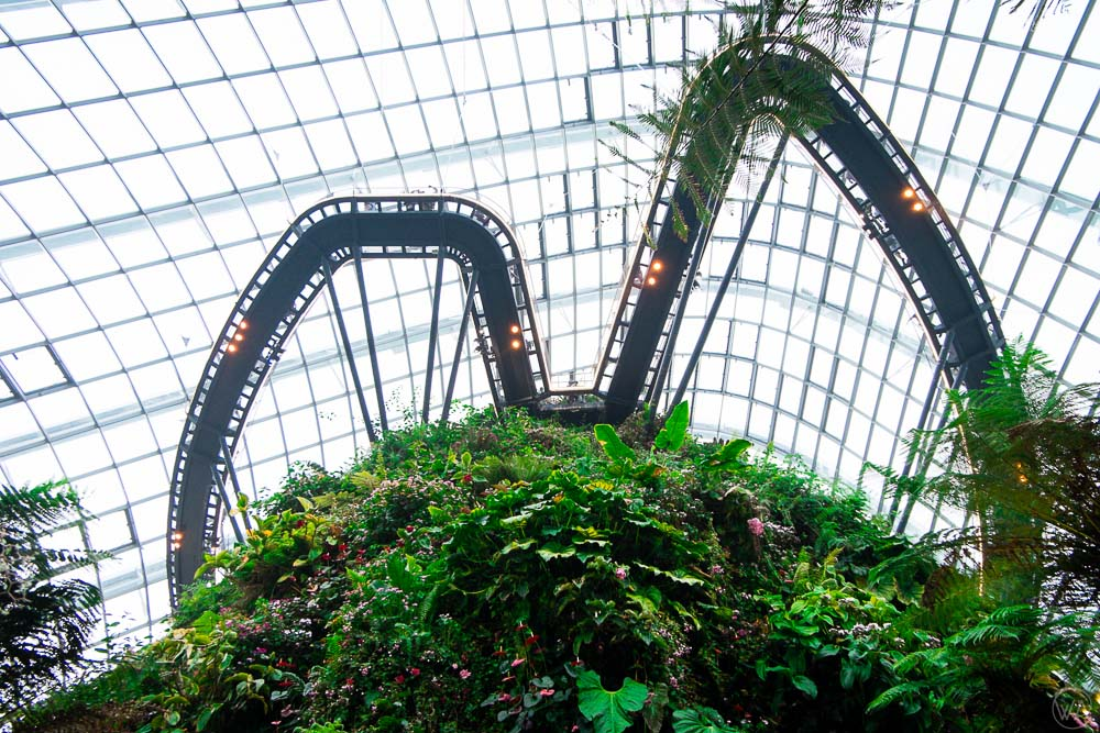 Skyway in Cloud Forest in Gardens by the Bay Singapore