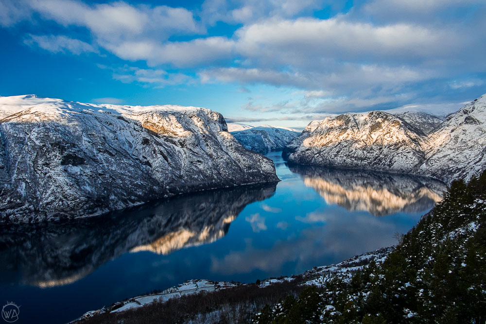 Best things to do in Flam - view from the Stegastein viewpoint, Norway fjords in winter