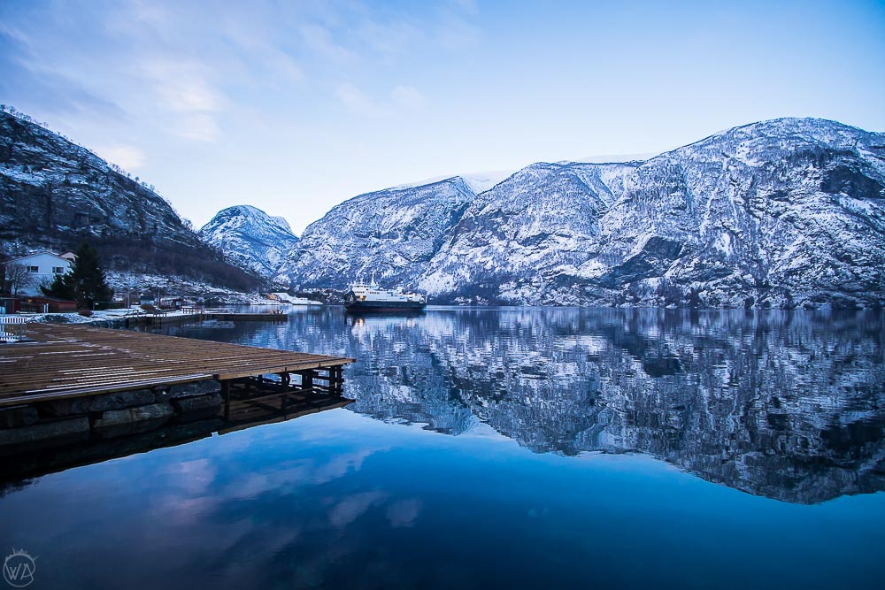 norway winter travel road trip itinerary - Norway in a nutshell Aurland