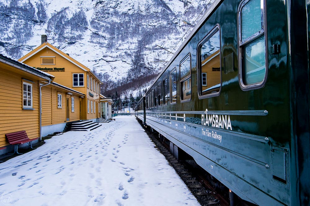 Norway in a nutshell Flam railway in winter