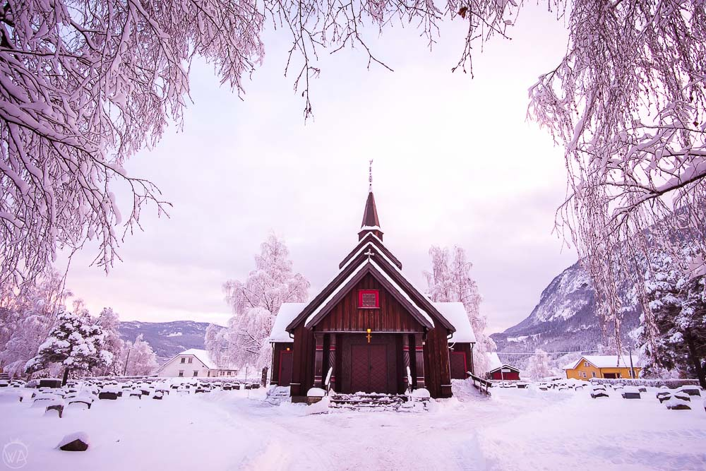 Scandinavian architecture church - norway winter travel road trip itinerary
