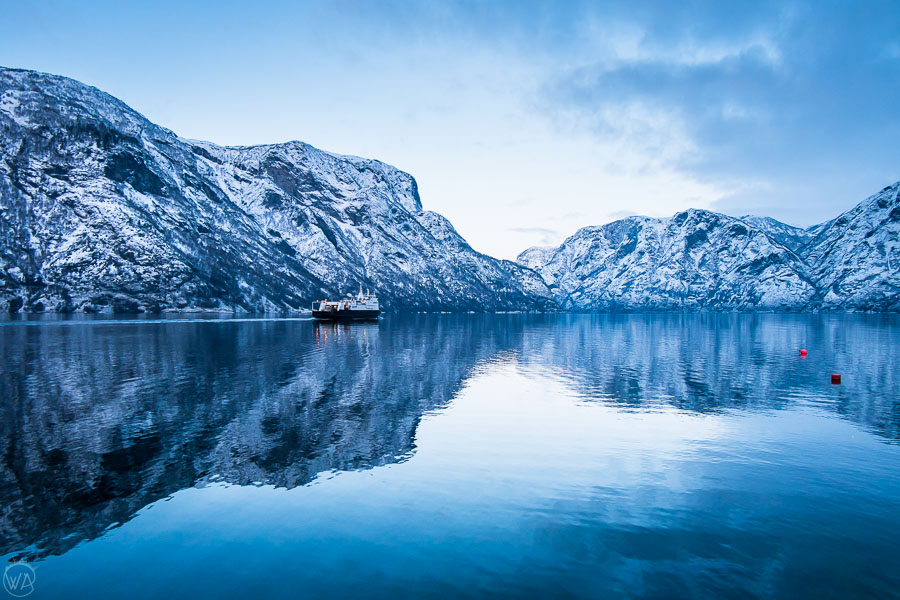 Norway in a nutshell fjord cruise in winter