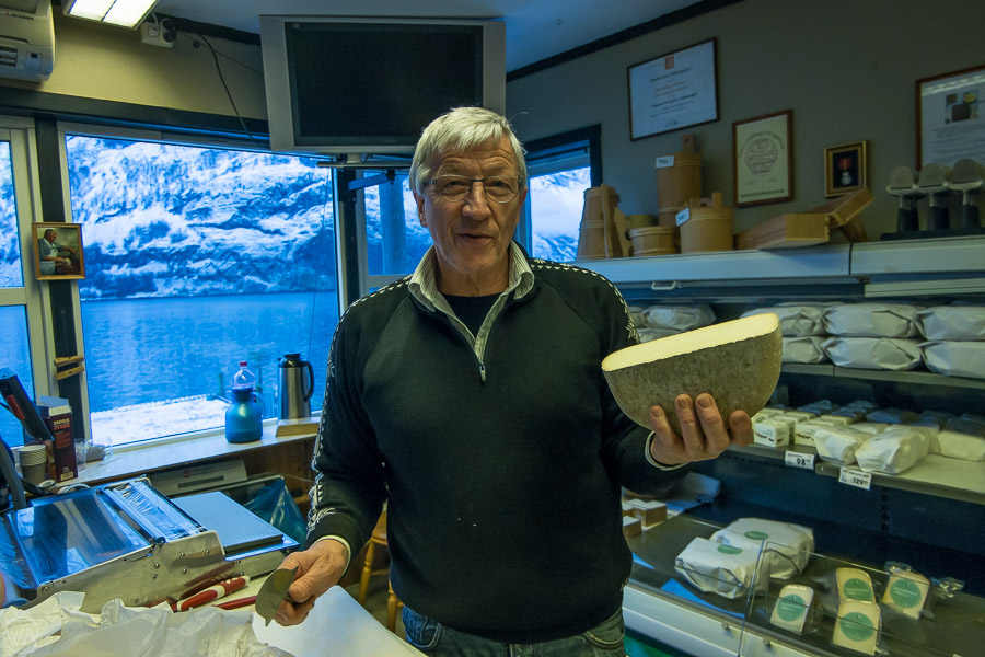 The Undredal goat cheese shop