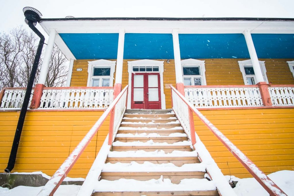 Colourful houses, Suomenlinna fort islands what to do in Helsinki in winter, Finland
