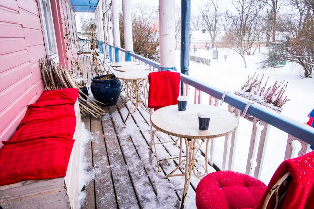 Cafes in one of the six islands where the Suomenlinna fort is built, what to do in Helsinki in winter