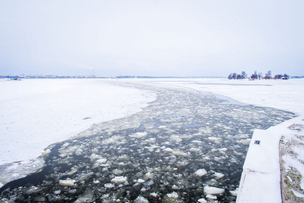 Travel through the frozen sea to Suomenlinna fort, what to do in Helsinki in winter