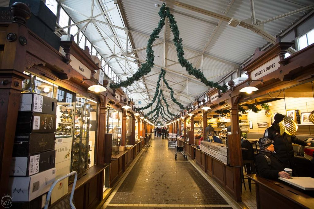 Indoor Helsinki market, what to do in Helsinki in winter Finland