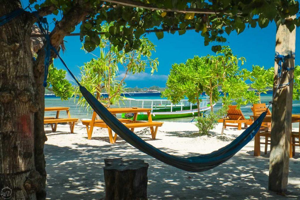 Beach paradise in Gili Air, Indonesia