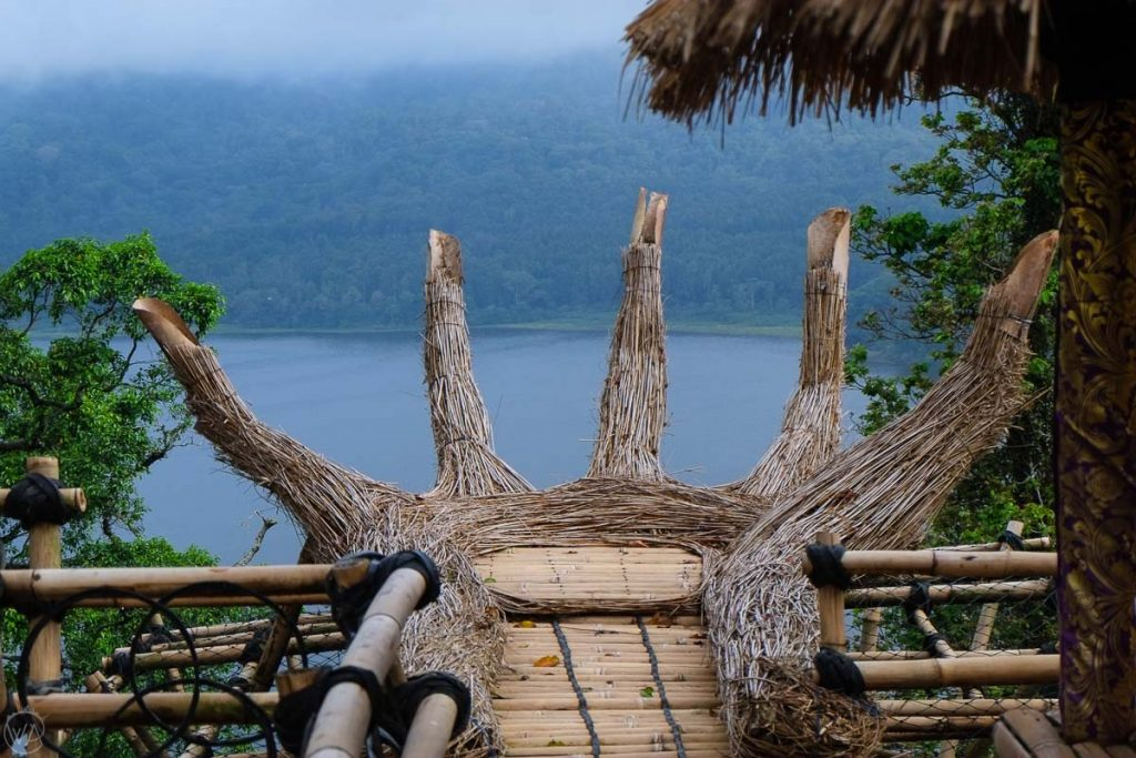 One of the view points in the Twin Lakes, Bali