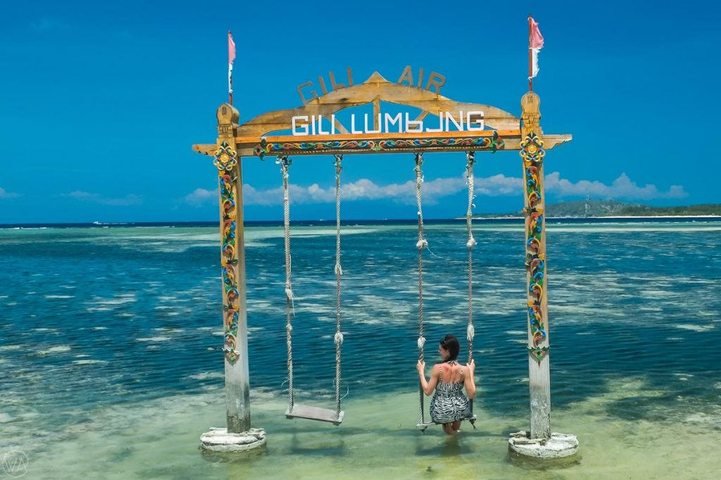 Swings in Gili Air, Indonesia