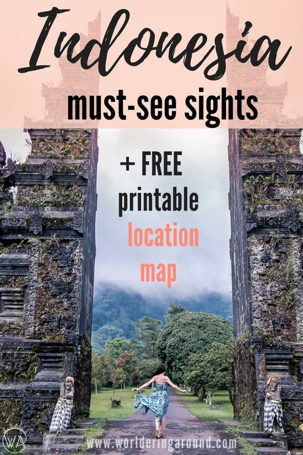 Indonesia must see sights, Indonesia 10 days travel itinerary, what to visit in Indonesia, Indonesia travel itinerary, Indonesia beautiful places, bucket list, Ubud, Bali, Java, Gili islands, Ijen, volcano, Bromo, Indonesia travel tips | Worldering around #indonesia #bali #asia #travel #itinerary #map