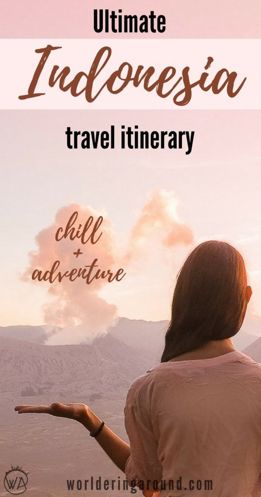 Indonesia must see sights, Indonesia 10 days travel itinerary, what to visit in Indonesia, Indonesia travel itinerary, Indonesia beautiful places, bucket list, Ubud, Bali, Java, Gili islands, Ijen, volcano, Bromo, Indonesia travel tips | Worldering around #indonesia #bali #asia #travel #itinerary