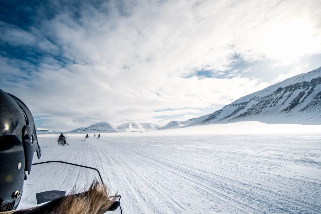 Svalbard tours on snowmobiles to the East coast on the go