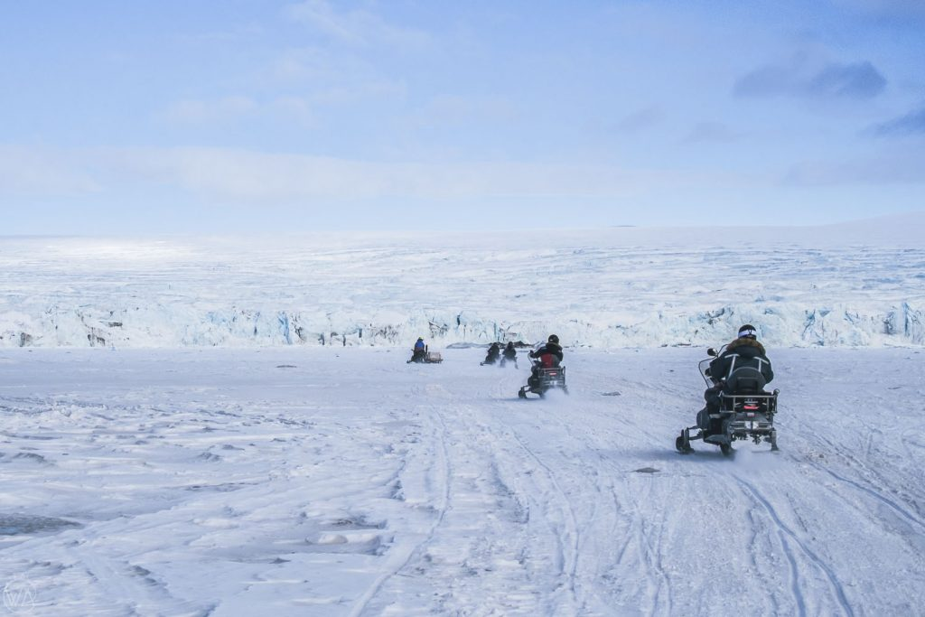 Svalbard tours on snowmobiles to the East coast glaciers