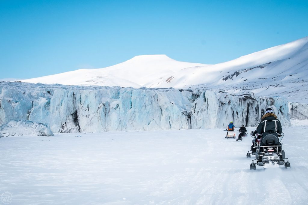Snowmobile tour in Svalbard, Norway