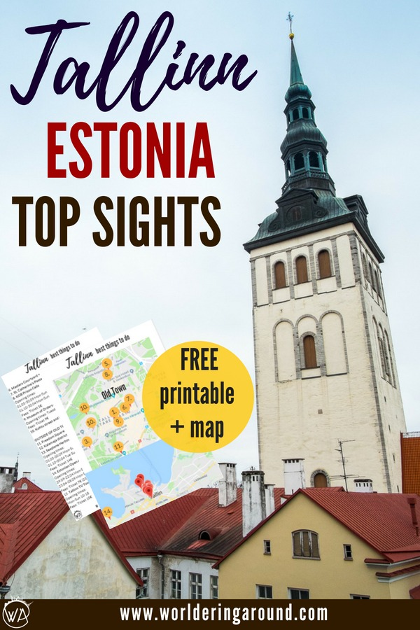 Tallinn Estonia sightseeing - the best things to do in Tallinn with a map and printable list. The best places in Tallinn Old Town. Find out what to see in Tallinn, discover Tallinn in winter with Tallinn travel tips | Worldering around, #Tallinn #Estonia #Baltics #Europe