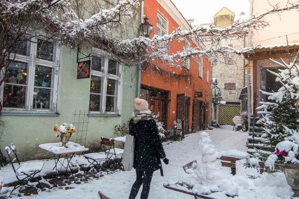 Masters courtyard Tallinn Tallinn sightseeing winter things to do in Tallinn in winter