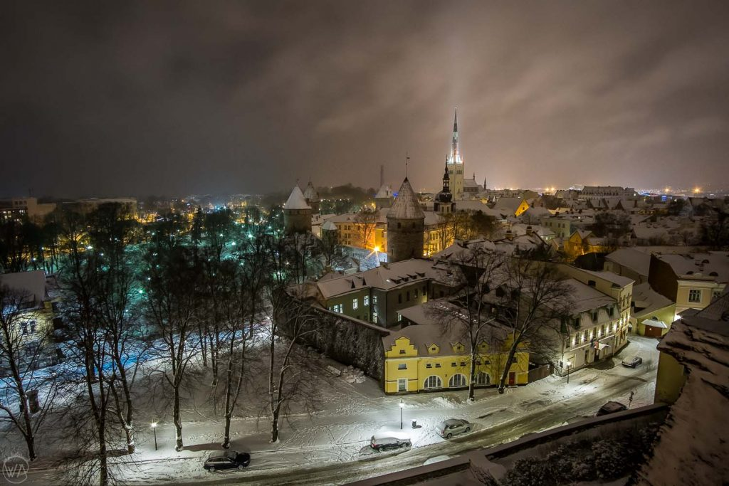 View to the Old town - Tallinn sightseeing winter-13