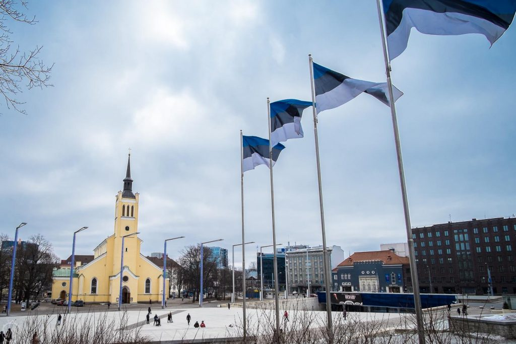 Tallinn sightseeing winter things to do in Tallinn in winter - Freedom square Tallinn