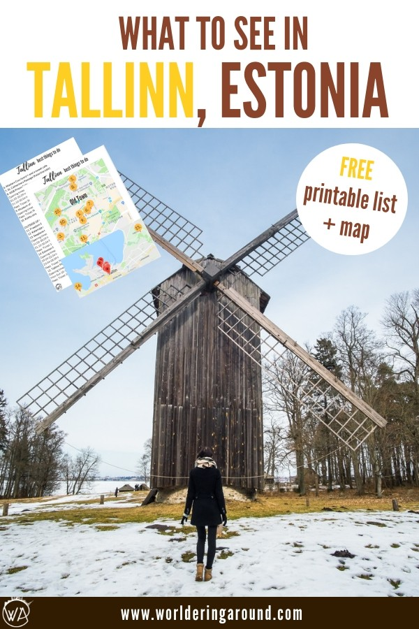 What to do in Tallinn Estonia with a printable list and a map. Top Tallinn travel tips and places to see in Tallinn, Estonia | Worldering around, #Tallinn #Estonia #Baltics #Europe #travelinspiration