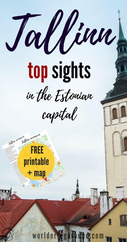 Tallinn Estonia, best things to do in Tallinn, with a map and printable list, Tallinn Old Town, what to see in Tallinn, Tallinn in winter, Tallinn travel tips   Worldering around, #Tallinn #Estonia #Baltics #Europe