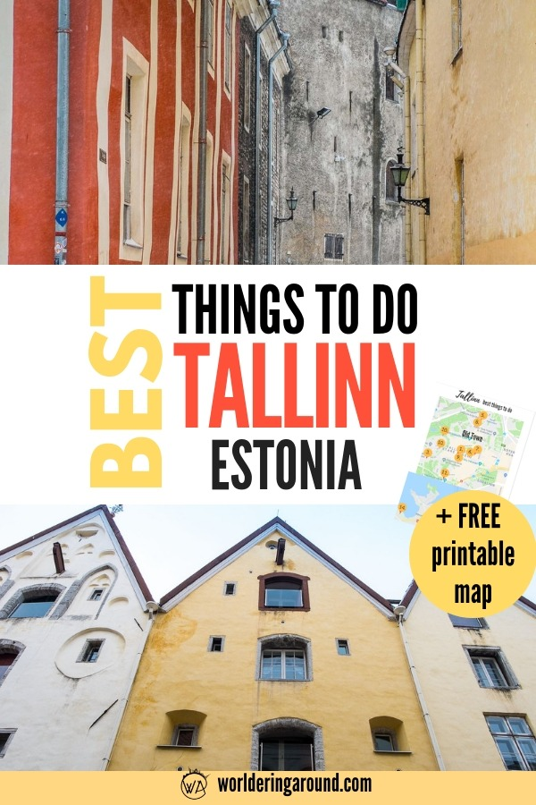 Best things to do in Tallinn Estonia with a printable map and list. Top Tallinn travel tips and places to see in Tallinn, Estonia with Tallinn Old Town and more | Worldering around, #Tallinn #Estonia #Baltics #Europe #travelinspiration #worlderingaround