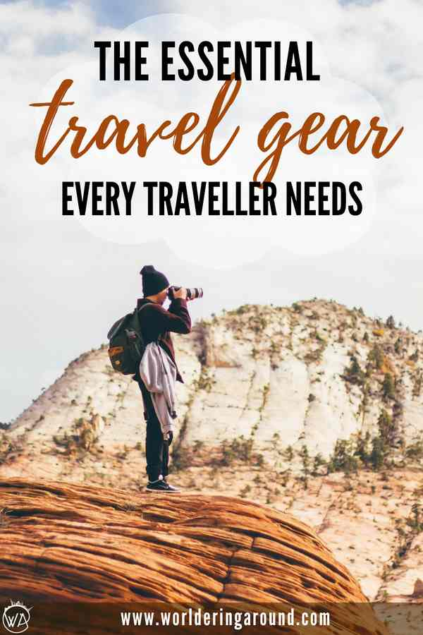 Find out the list of the essential travel items for your next trips! Travel gear including outdoor gear and photography gear, as well as packing tips and guides. | Worldering Around #packing #travel #travelgear #traveltips #travelessentials