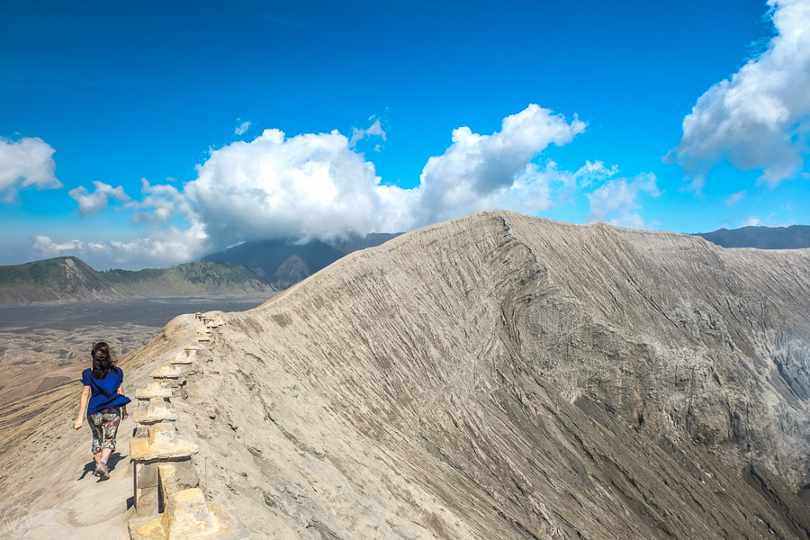 Mount Bromo hike on the crater