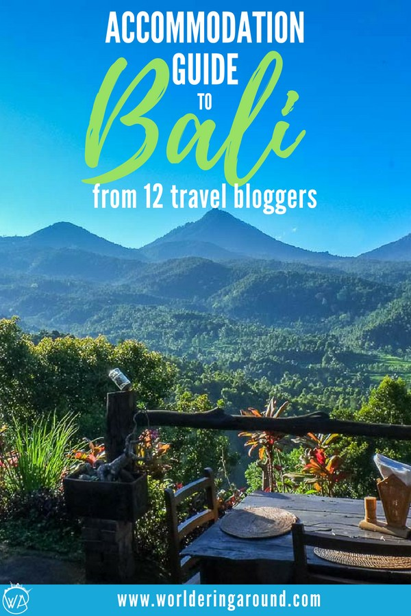 Best accommodation guide to Bali! Find the best villa in Bali in one of the beautiful Bali areas with this Bali guide with tips shared by 12 travel bloggers. You won't need to wonder where to stay in Bali any more! | Worldering around #Bali #Indonesia #travel #wheretostay #wheretostayBali #accommodationguide
