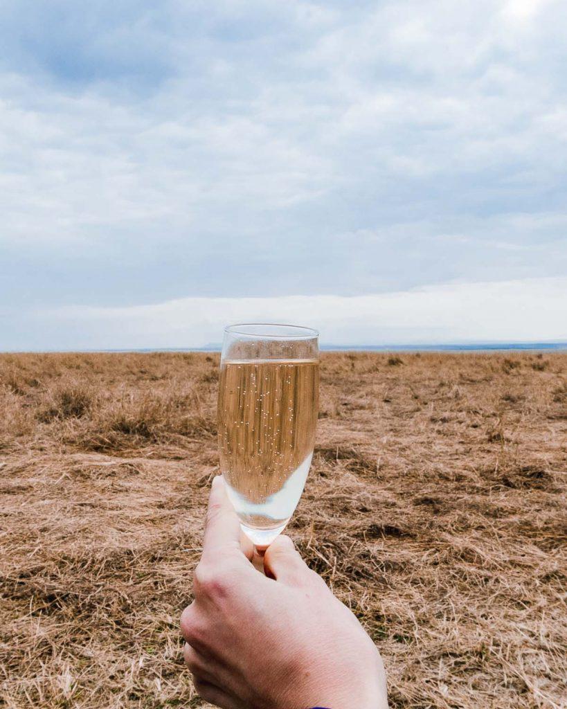 Champagne in the bush, Masai Mara, Kenya