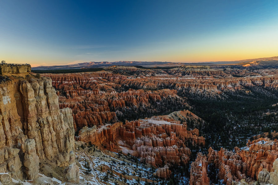 Bryce Canyon in the snow, USA road trip itinerary southwest 2 weeks