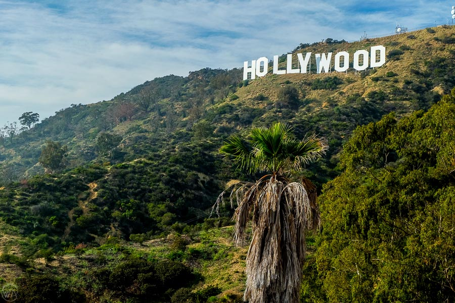 Hollywood sign in Los Angeles, USA itinerary Southwest road trip