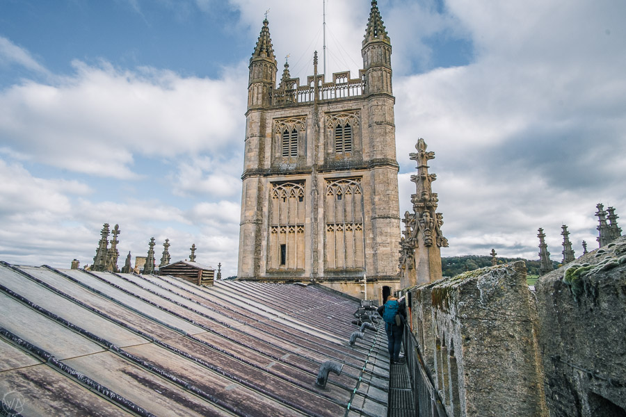 Places to visit in Bath - Bath day trip, weekend in Bath - Walking on the roofs of the Bath Abbey Tower
