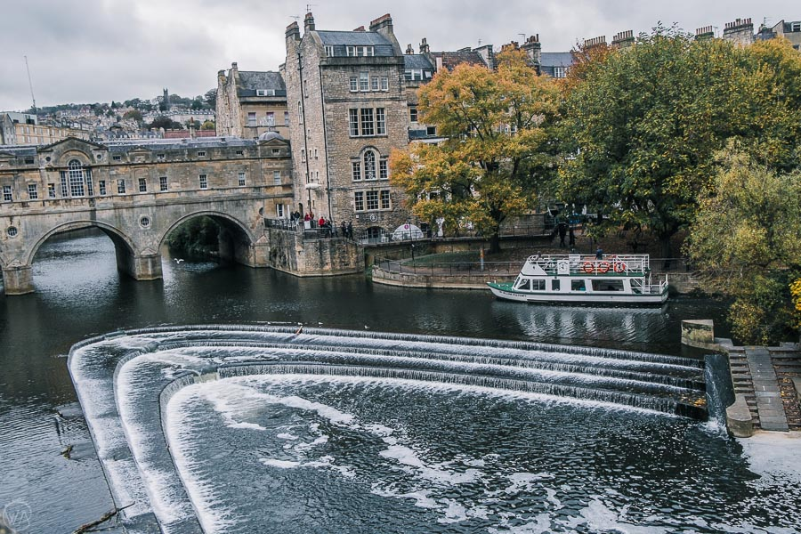 Places to visit in Bath - Pulteney Bridge and River Avon, Bath