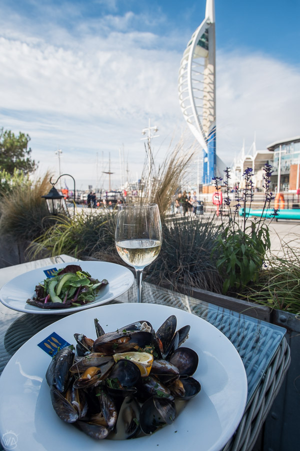 Scottish mussels in the restaurant in Gunwharf Quays - places to visit in Portsmouth