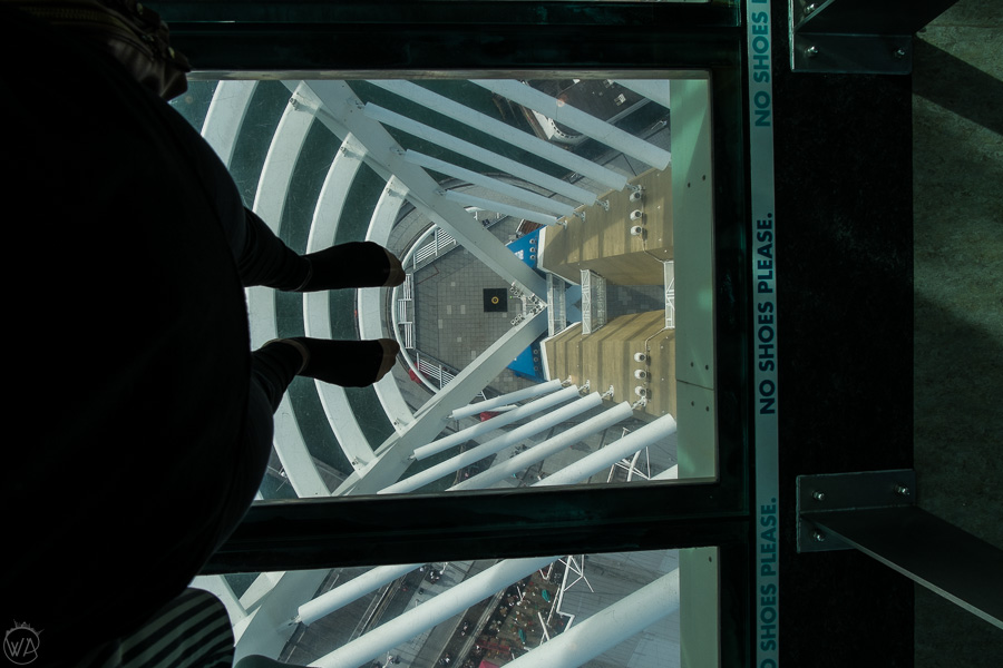 Walking on the glass floor - Places to visit in Portsmouth UK