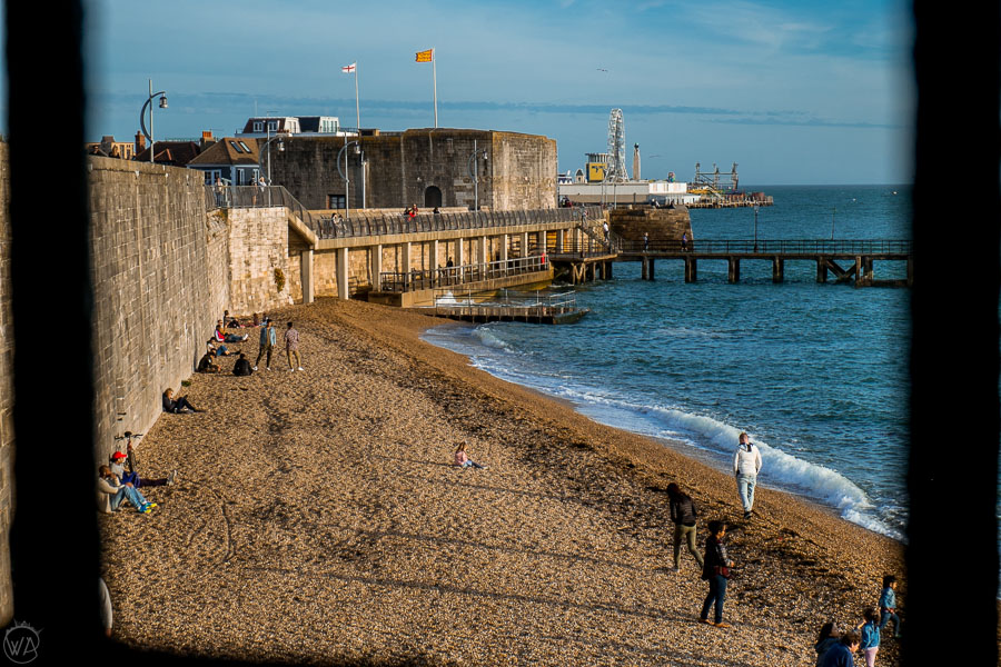 Small beach in the Southsea, Portsmouth is one of the places worth to visit in Portsmouth England