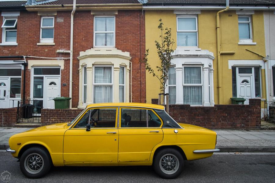Colorful neighborhood in Portsmouth UK