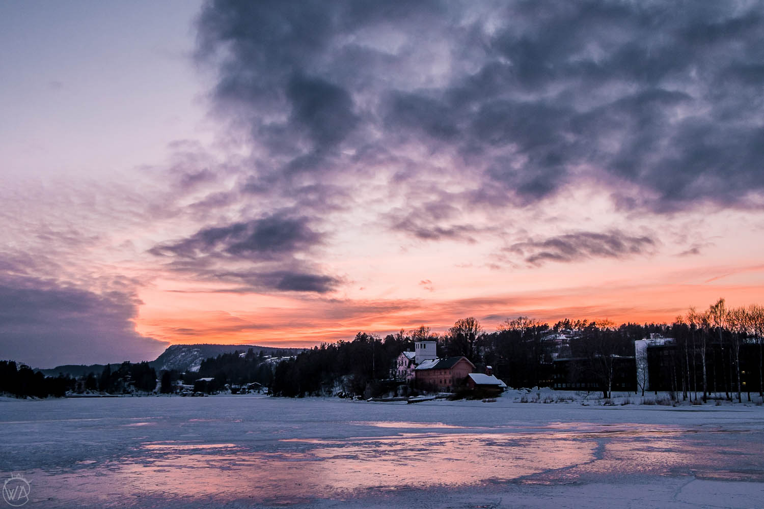 Winter sunset in Oslo, what to do in Oslo in winter